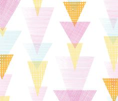 Fun textured triangles arrows by oksancia on Spoonflower