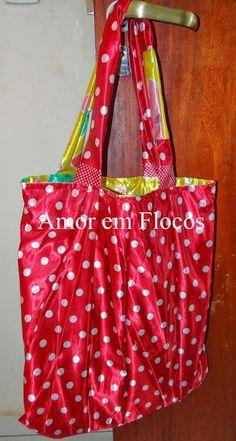 AVZ - Amor em Flocos: Eco Bag - Sombrinha Reciclada