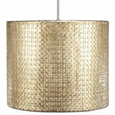 Hand-woven aluminum, fashioned after a draped table, is finished in a subtle metallic patina. The Selene collection comes in four styles of shades each with UL approved brushed nickle pendant kit.