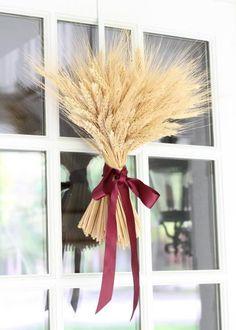 Fall Wheat Door Decor