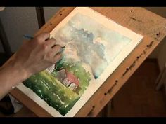 Painting a landscape in Watercolor medium. - YouTube