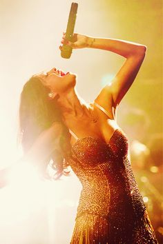 The lighting in this scene makes Selena look like a goddess, they way the bright light shines around her makes her look holy and peacefull.