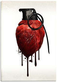 """Heart Grenade"" by Nicklas Gustafsson Graphic Art on Canvas"
