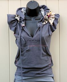 One of a kind cotton jersey hoodie - KT405 SMALL
