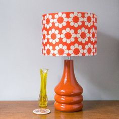 hunkydory home Isobel's Vintage Flowers Ceramic Table Lamp 70s Decor, Retro Home Decor, Cheap Home Decor, Home Decor Items, Retro Flowers, Retro Floral, Vintage Flowers, Red Table Lamp, Ceramic Table Lamps