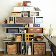 Creating this DIY bookcase is as simple as knowing how to build a basic box. Follow these simple steps to create a bookcase as high and as wide as you need to fit your space.