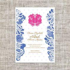 Wedding invitation of chinese style oriental inspiration diy printable chinese wedding celebration invitation card template instant downloadblue lotus chinese wedding painting double happiness stopboris Gallery