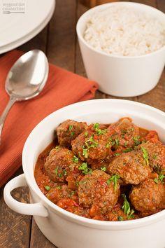 Moroccan Lamb Meatballs in Tomato Sauce #SundaySupper