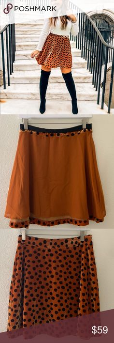 e2228f731443 Madewell Velvet Circle Mini Skirt in Leopard Dot New. No flaws. meets- leopard