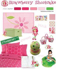 Strawberry Shortcake Bedrooms Decor Bedding Set Kids Rooms