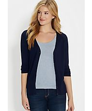 the classic cardi with v-neckline in blue jasmine navy