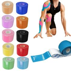 Buy Kinesio Taping Bandage RollAthletic Kinesiology Sport Elastic Adhesive Knee Muscle Tape Strapping Strain Injury Support at Wish - Shopping Made Fun Kt Tape Knee, Knee Meniscus, Kinesiology Taping, Muscle Strain, Coaching, Fitness Motivation, Wave Pattern, Knee Pain, Physical Therapy