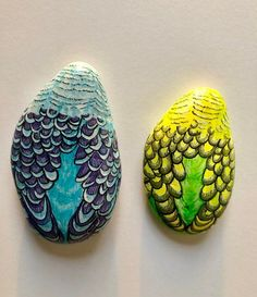Rock Painting Patterns, Rock Painting Ideas Easy, Rock Painting Designs, Pebble Painting, Pebble Art, Stone Painting, Painted Rock Animals, Hand Painted Rocks, Stone Crafts