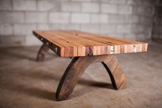reclaimed bolted slab coffee table by PecanWorkshop on Etsy, $400.00