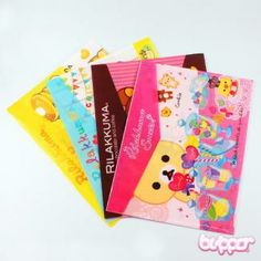 Rilakkuma Sweets plastic folder with flap - Other Items - Stationery | Blippo.com - Japan & Kawaii Shop