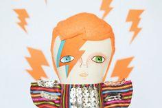 David Bowie doll / Aladdin Sane / Cloth doll / by Mandarinas de Tela #MandarinasDeTela