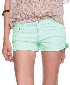 Mint Denim Dolphin Short