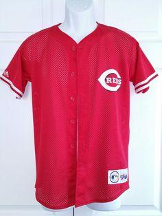 7c7681b0ce7 Majestic mlb Cincinnati Reds Ken Griffey Mesh youth baseball jersey Vintage  L   4.99 (0