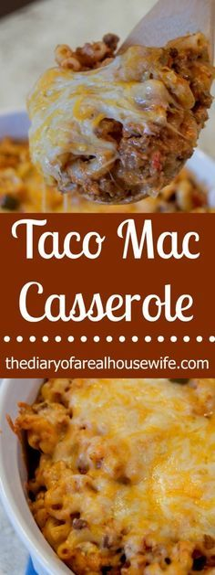 Taco Mac Casserole. This is a recipe you HAVE to try! Talk about the perfect comfort food, pasta, cheesy, creamy, goodness! Perfect for a family dinner.