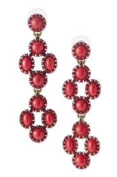 Red Beaded Chandelier Earrings | Sardinia Chandeliers | Stella & Dot. Another versatile piece that can be worn three ways. First as a stud, then add one drop or two for a statement stunner!