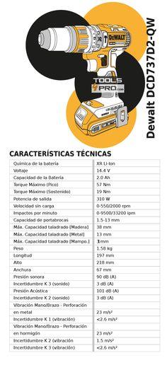 Taladro bateria Dewalt sin escobillas - 14,4V / 2Ah - Tools4Pro