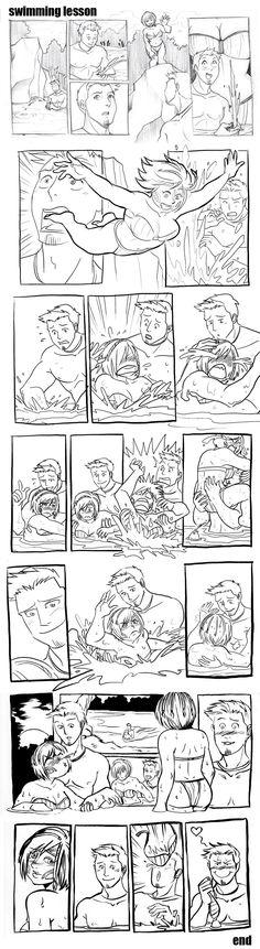DA - Swimming Lesson by aimo on deviantART