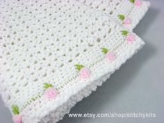 Crochet+Pattern+for+Rosebud+Baby+Blanket++INSTANT+by+Stitchykits,+$3.50