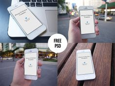 Free iPhone Mockups Free iPhone Photo Mockups   PSD