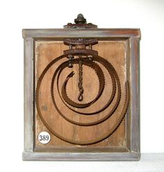 Assemblage Art | rusty horse comb old box art sculpture assemblage joy price jennifer ...