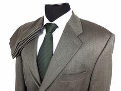 RALPH LAUREN Men's 45R/39 Olive Twill 3-Button Dual Vent Wool Suit ~Pleated Pants #RalphLauren |  Business Attire | Men's Fashion & Style | Shop Menswear, Men's Clothes, Men's Apparel & Accessories at designerclothingf... | Find Sport Coats, Blazers, Suits, Shirts, Polos, Pants/Trousers and More...