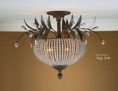 Crystal Light Fixture by Carolyn Kinder