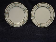 "Noritake Ivory China Amenity 7228 Dinner Plate 10 5/8"" Gold Trim - TWO NICE #Noritake"