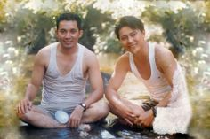 Young Khem Veasna with friend.