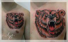 медведь эскиз олдскул - Поиск в Google