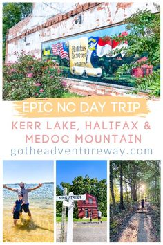 Looking for an Epic North Carolina day trip? Kerr Lake, Halifax and Medoc Mountain are full of history and nature to explore. Check out our guide for great food, beautiful nature and little gems to discover! North Carolina Day Trips, North Carolina Beaches, North Carolina Mountains, Canada Travel, Travel Usa, Photography North Carolina, Mountain Vacations, National Parks Usa, Beach Landscape