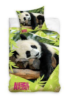 Zielona pościel bawełniana z leżącą pandą Teddy Bear, Cool Stuff, Toys, Animals, Animales, Animaux, Toy, Teddybear, Games