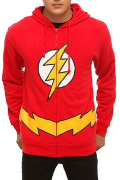 DC COMICS THE FLASH HOODIE I neeeeeeeeeeeeeeed this in my life
