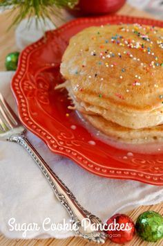 Sugar Cookie Pancakes for Christmas Morning