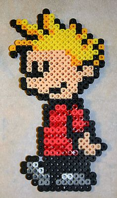 Calvin and Hobbes: Calvin perler beads by cg-shell on deviantart