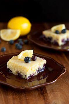 lemon blueberry brownie