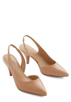 Playtime Heel in Blush by Seychelles - Mid, Leather, Tan, Solid, Prom, Wedding, Party, Work, Cocktail, Girls Night Out, Minimal, Better, Slingback, Basic, Social Placements