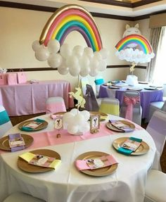 40+ Ideas birthday party rainbow theme baby shower #party #birthday #babyshower #baby