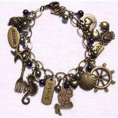 Little Mermaid Little Mermaid Bracelet Adult Charm Bracelet Princess... ($32) ❤ liked on Polyvore