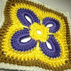 Free Crochet Patterns: Free Crochet Granny Square Motif Patterns by granma jean