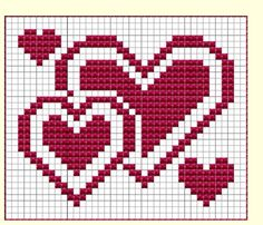 Valentines dish cloth, knitting pattern – Molly Book – Willkommen bei Pin World Knitting Charts, Knitting Stitches, Crochet Chart, Crochet Patterns, Filet Crochet, Crochet C2c, Cross Stitch Designs, Cross Stitch Patterns, Cross Stitching