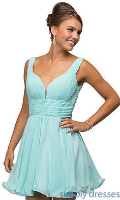 d6284a36e1 Shop ruched-bodice short party dresses at Simply Dresses. Cheap semi-formal  dresses
