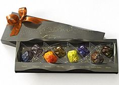 Chocolate Meteorites!  Each of these candies is made to look like a specific meteorite, such as the Henbury, the Orgueil or the Pallsovka. They even have one called the Tatahouine, named after the meteorite that fell in the Tunisian desert that served as the set for Tatooine in Star Wars. Instead of tasting like burnt up space rocks, these come in flavors like white chocolate with grapefruit and earl grey tea, and bitter chocolate with hazelnut praline.