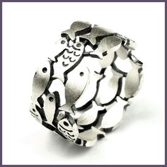 Guaranteed 925 Sterling Silver Three Rows Hollow Swimming Fish Rings For Women Antique Matte Processing Fine Jewelry