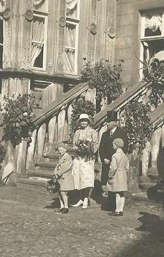 Heimführung des Hochzeitspaares Fürst Bentheim und Prinzessin Solms-Hohensolms