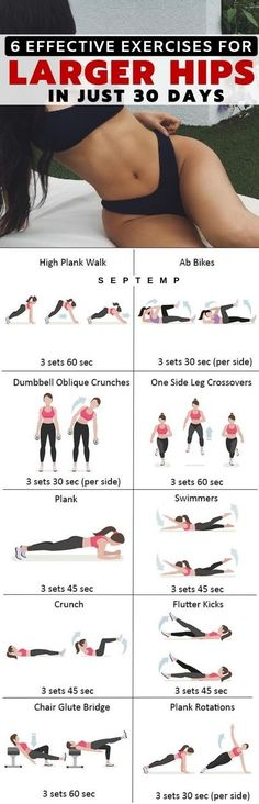 Hip workout Workout Health fitness Health and fitness articles Butt workout Fitness 6 Most Effective Exercises To Get Larger Hips Very Fast Healthy Solutions 24 Summer Body Workouts, Fitness Workouts, Yoga Fitness, Fitness Motivation, Lower Body Workouts, Fitness Classes, Training Workouts, Ab Workouts, Fitness Quotes